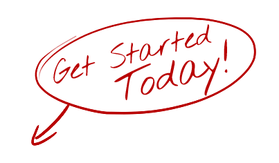 Get Started Today - Hand Drawn Red